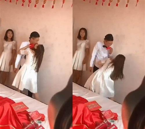 Phù dâu trẻ vùng vẫy thoát thân vì bị bạn chú rể sàm sỡ vòng 1 trong đám cưới-2