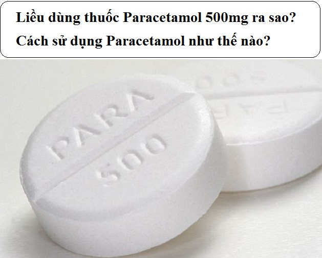 lieu dung thuoc paracetamol 500mg ra sao cach su dung paracetamol nhu the nao