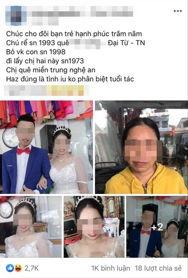 Chú rể 27 tuổi cưới cô dâu 47 ở Thái Nguyên: Đã tổ chức tiệc, chưa đăng ký kết hôn-1