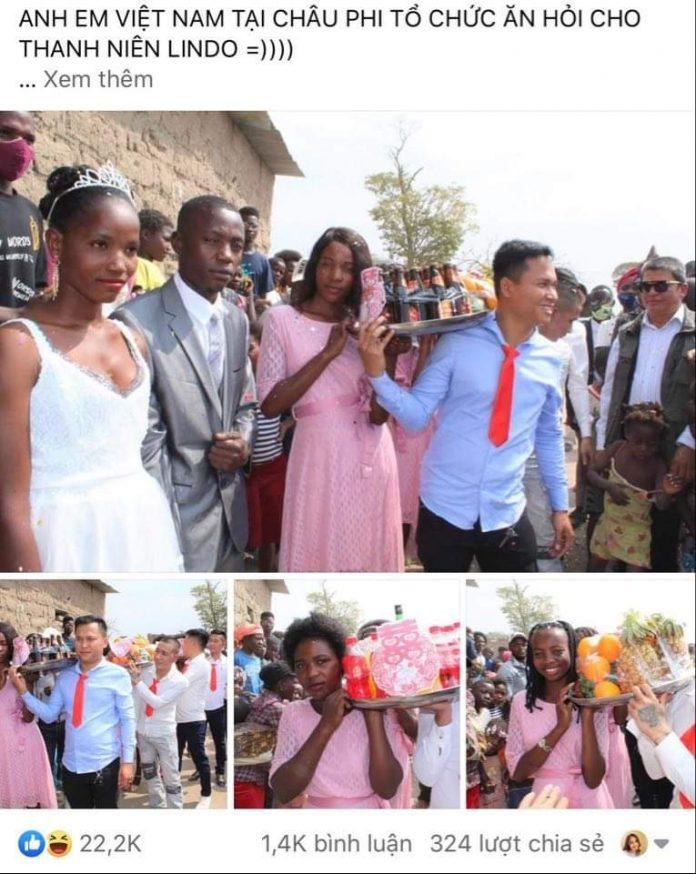 Đám cưới ở Châu Phi theo phong cách Việt Nam, nhìn dàn bê tráp mà mê-1