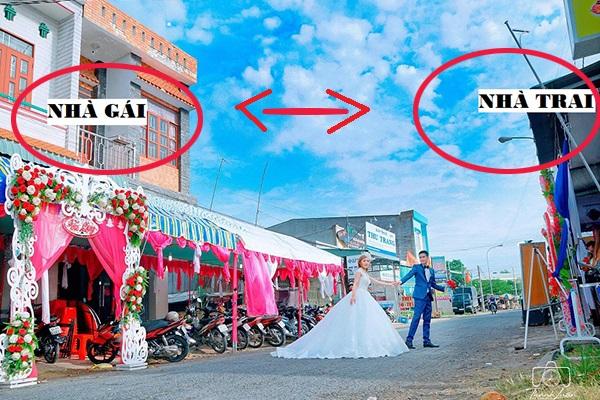 Đám cưới 2 nhà sát vách độc đáo, dân mạng tưởng lầm ảnh photoshop-8