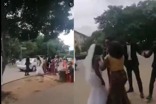 Hay tin chú rể qua đêm với phù dâu khi đang trên đường đến nhà thờ, cô dâu kiên quyết cởi váy cưới-1