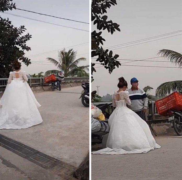 Clip: Đang làm lễ cưới thì shipper gọi, cô dâu quyết bùng chú rể chứ không bom hàng-1