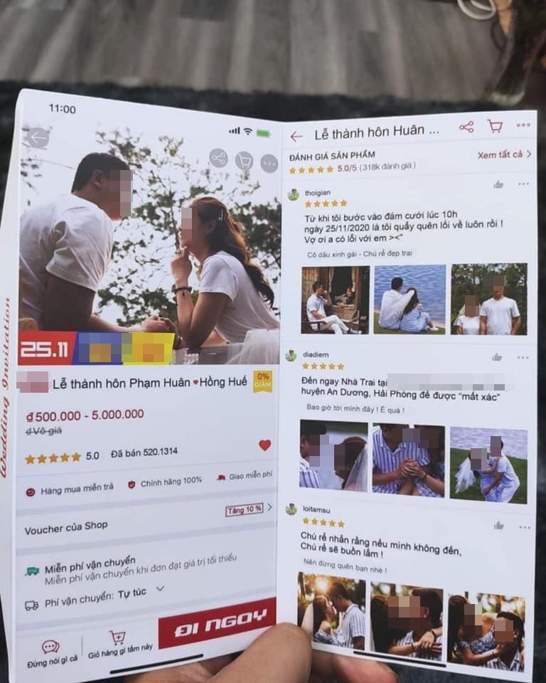 Thiệp mời quy định giá mừng cưới của cặp nghiện mua sắm ở Hải Phòng gây bão mạng-1