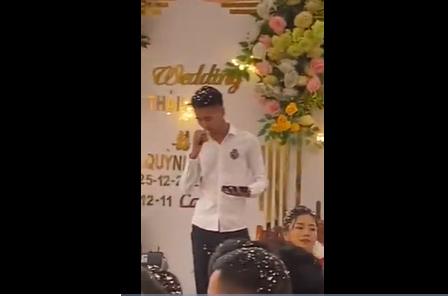 Đu trend hát rap trong đám cưới, thanh niên được tư vấn đi làm diễn viên hài-1