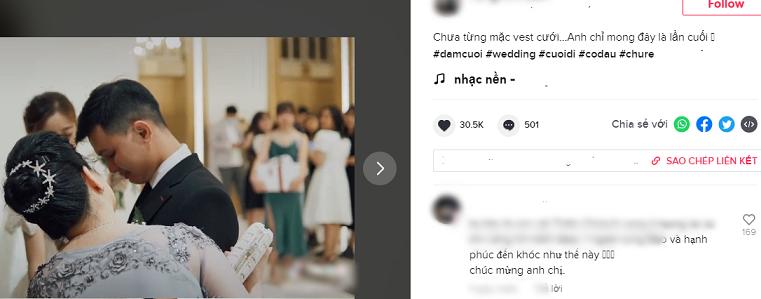 Xôn xao clip chú rể khóc nức nở ở đám cưới, nguyên nhân phía sau gây bất ngờ-1