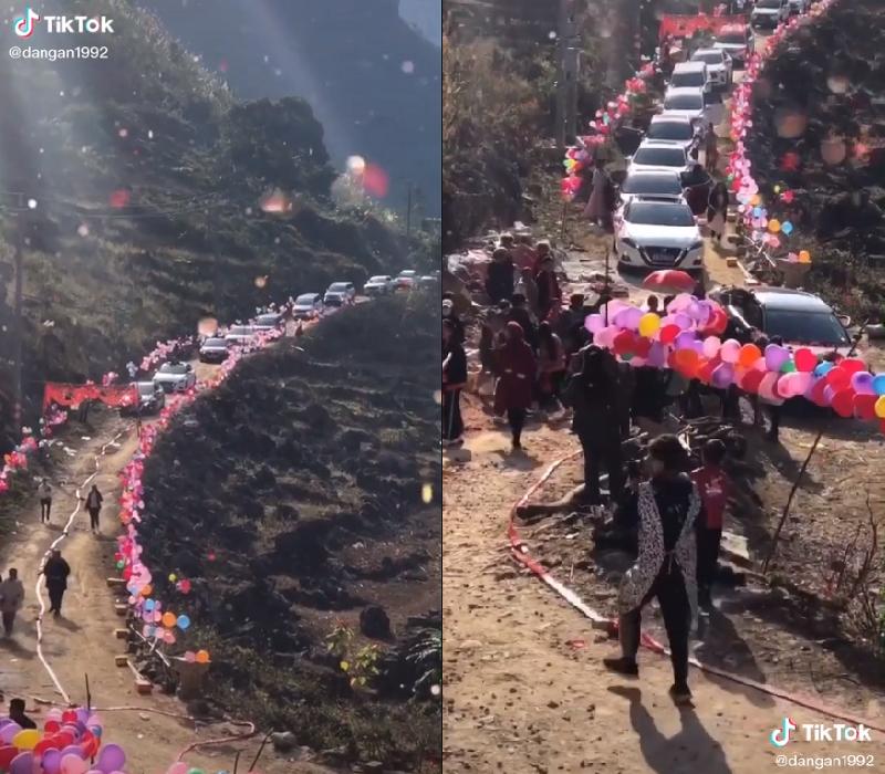 Dân mạng choáng ngợp dàn siêu xe nối đuôi nhau lên núi rước dâu-1