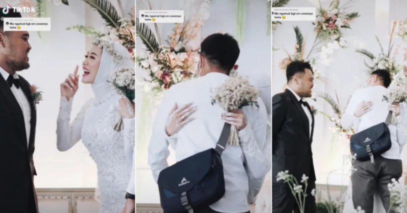 Cô dâu ôm chầm tình cũ trong lễ cưới, phản ứng của chú rể khiến dân mạng choáng váng-1