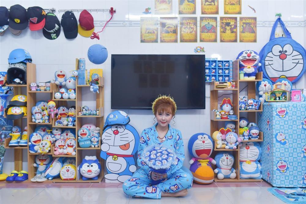 U mê Doraemon, cô dâu 9x được mẹ chồng tặng nguyên bộ trang sức hình mèo máy-3