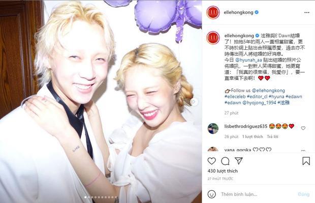 HOT: Nửa đêm Hyuna đăng ảnh diện váy cô dâu, nghi vấn kết hôn với Dawn?-9